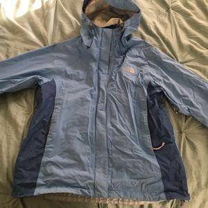 North Face Women's winter jacket. Sky blue